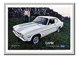 Ford Capri 1971 Auto Werbung Aufdruck Silber Gerahmt 41 X