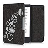 kwmobile Case for Tolino Shine 3 - Book Style Felt Fabric