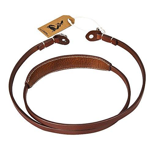 CANPIS Leather Camera Strap Vintage Shoulder Neck Strap Belt for DSLR Cameras Canon, Fuji, Nikon, Olympus, Panasonic, Pentax, Sony, Leica - Brown