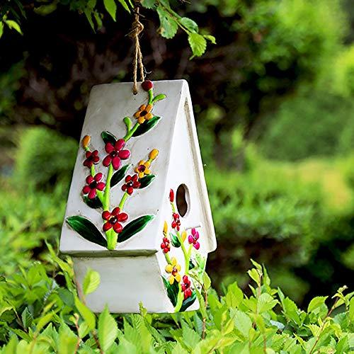 Vogelhuis Vogelhuisjes Bird Hut Opknoping Hummingbird Nest For Hangende Buiten Decoratieve Met De Hand Beschilderd Birdhouse Yard Garden Decor Open Lucht Decoratieve Tuin