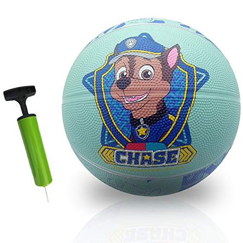 NEILDEN Sports Rubber Basketball Size 5,Ball-Playground Indoor/Outdoor Basketball for Kids,Teen,Children's Fashion Basketball Blue Number 5,Ball Pump Included(27.5