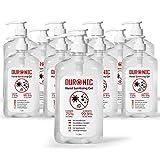 Duronic x12 S1000ML Gel desinfectante de manos bote de 1000 ml - Formato grande 1 litro - 75% de alcohol - Mata hasta el 99,9% de las bacterias – Gel antibacterias de secado rápido sin olor