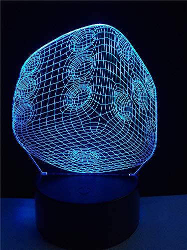 Kubus 3D nachtlampje LED illusie lamp met 7 kleuren wijzigen en afstandsbediening - verjaardag en kerstcadeaus voor kinderen bedlampje slaapkamerdecoratie