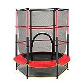 Trampoline de jardin pour enfant - 140 cm - Pour intérieur/extérieur - Avec filet de sécurité - Charge maximale : 50 kg
