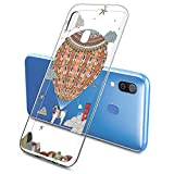 Oihxse Mode Case Compatible pour Samsung Galaxy S6 Edge Coque Transparent Silicone Gel TPU Bumper Animal Motif Dessin Cover Ultra Mince Crystal Clear Antichoc Protection Couverture,Chien