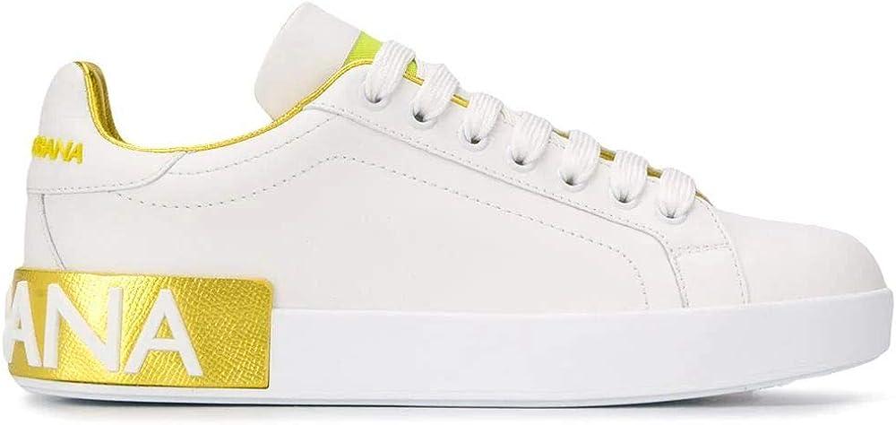 Luxury fashion dolce & gabbana, scarpe sneakers da donna, in vera pelle , numero 37,5 eu CK1544AX6158E037