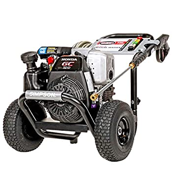 Simpson Cleaning MSH3125 MegaShot Gas Pressure Washer Powered by Honda GC190 3200 PSI at 2.5 GPM  49 State  black