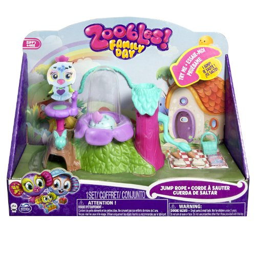 Zoobles 6017936 - Family Jump Rope Mini Playset