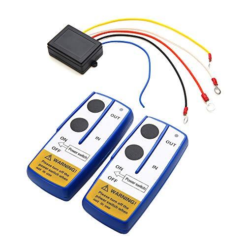 Festnight Kit di Telecomando per Telecomando per verricello Wireless Universale 12V da 12 V per ATV SUV