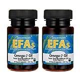 Swanson Omega-7 Oil from Sea Buckthorn Oil 450 mg 30 Liq Caps 2 Pack
