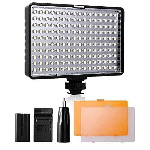 SAMTIAN Luz de Video LED, Yeeteem TL-160S Panel de Luz LED Regulable de 160 Piezas Antorcha Led Lámpara de Videocámara para Canon, Nikon, Pentax, Panasonic, Sony, Samsung y Olympus Digital DSLR