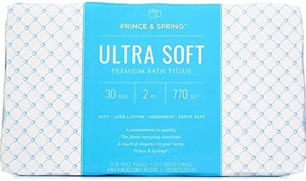 Prince Spring UltraSoft30ct Ultra Soft Premium Bath Tissue