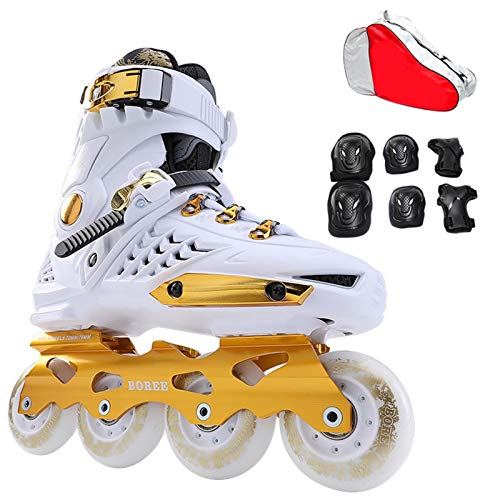 mfwwewe Adult Inline Skates Beginners Mens And Womens Professional Quad Skates Student Youth Durable Breathable Roller Skates Color 1 Size EU 37US 5UK 4JP 235CM