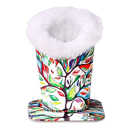 MoKo Eyeglasses Holder, Modern Velvet Plush Lined PU Leather Household Magnetic Holder Protective [Anti-scratch] [Dustproof] Stand Case for Eyeglass and Sunglasses, Lucky Tree