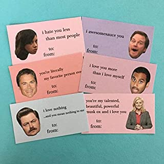 parks and rec valentines day cards