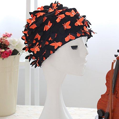 Wingogo Cuffia Da Piscina Per Donna Capelli Lunghi Con Farfalla Decorazione