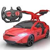 Inalámbrica de Tesla eléctrico niños de coches de juguete de control remoto que compite con la deriva de la puerta abierta Deportes Modelo RC coche eléctrico de los niños choque de los deportes a dist