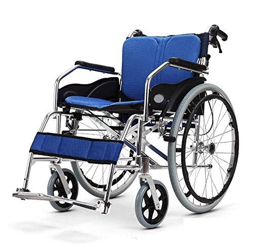 Aandrijving Ouderen Rolstoel Transport Medische Lichtgewicht Vouwen Comfortabele Armleuning Ruggen, Aluminium Ouderen gehandicapten Rolstoel Opvouwbaar, Geschikt voor Ouderen en Gehandicapten, Y-L