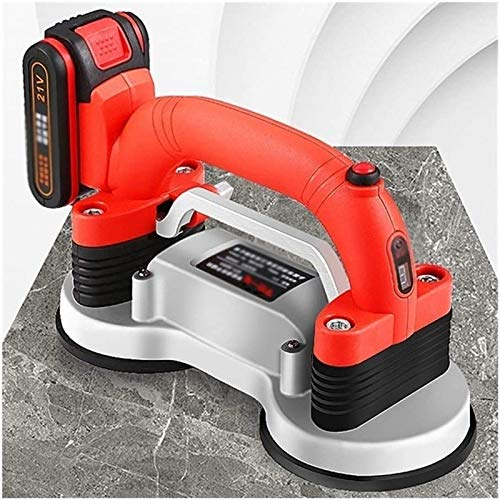 CRMY Vibrating Tile Machine, 21V Auto Leveling Flat Paving Tool with Double Suction Cups-Maximum Adsorption 200kg-Tiles for Floors and Walls (Size : 1 Batteries)