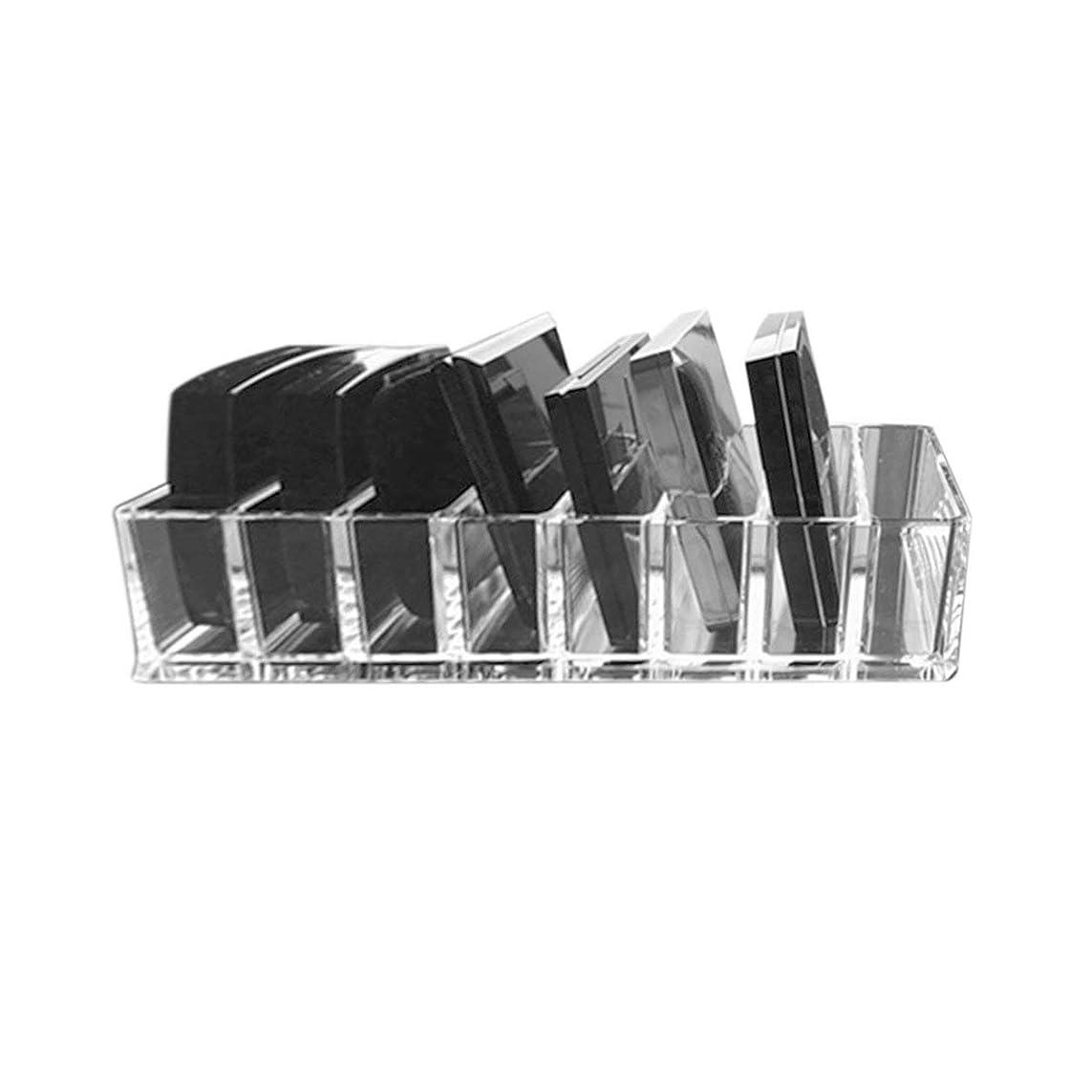 かろうじてポーズ増強するSaikogoods 実用的な透明アクリルメイクアレンジストレージボックスリップスティックホルダー透明なマルチスロットデスクトップ化粧品オーガナイザー トランスペアレント
