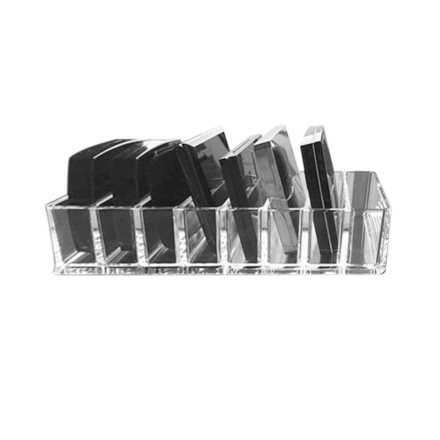 ゴールデントリム電話するSaikogoods 実用的な透明アクリルメイクアレンジストレージボックスリップスティックホルダー透明なマルチスロットデスクトップ化粧品オーガナイザー トランスペアレント
