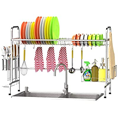 Over the Sink Dish Drying Rack, Veckle Premium ...