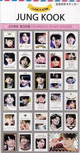 JUNG KOOK ジョングク (防弾少年団 BTS バンタン) 記念 切手 シール ステッカー (Celebrate Stamp Sticker) [29ピース] グッズ