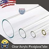 3/8' Diameter 24' Long Clear Acrylic Plexiglass Lucite Tube