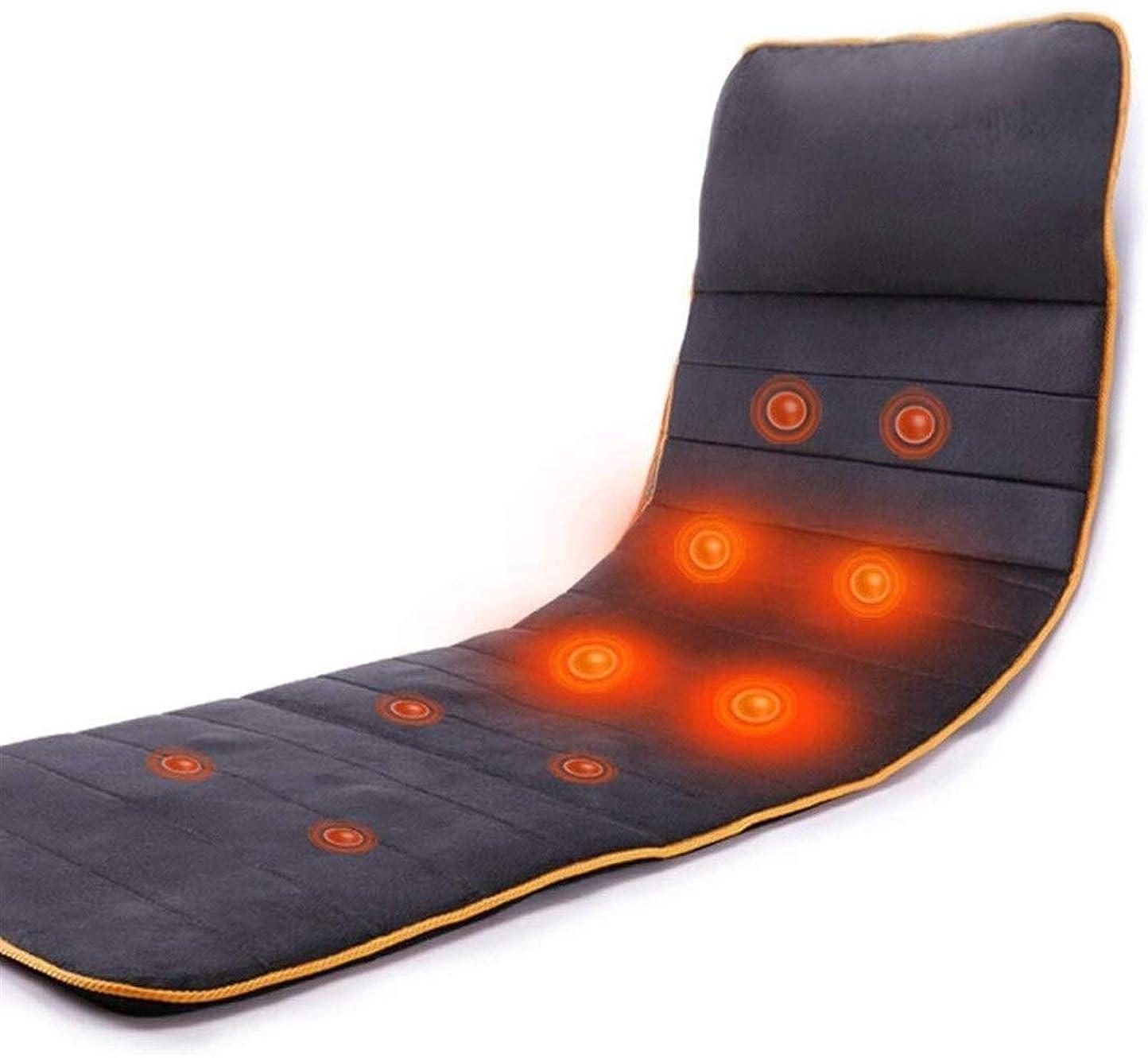 監督する十一ハーネス多機能ボディマッサージクッション、マッサージクッション椅子を混練マッサージマットレスの家庭用暖房、デュアルユースを横たわって座って、折りたたみ可能