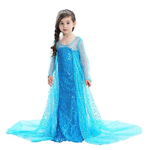 Lee Little Angel 2018 niñas congeladas Aisha niños Vestido de Princesa (100, E08)
