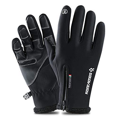 Guantes de Invierno Ciclismo Finger Completa Nuevo otoño y el invierno al aire libre Moda Ladies'Thicker esquí Guantes Calentamiento guantes de la bicicleta con las pulseras de guantes impermeables y