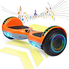 Bluetooth speaker - Enjoying the music on the move, it is a ride with your favorite song. Bluetooth connection with the phone easy. Train to Balance - Designed for beginner and kids with the self-balancing system which is easy to get a first try and ...