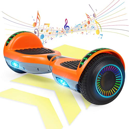 "FLYING-ANT Hoverboard w/Bluetooth Speaker Self Balancing Scooter Two 6.5"" Flashing Wheels UL2272 Certified Outdoor Sports Easy to Begin Perfect Pick for Adult Kids"
