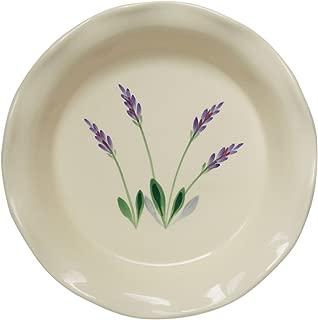 Ceramic Pie Plate - Decorative White 9 Inch Stoneware Round Nonstick Lead Free Baking Dish Made in USA