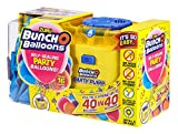 Zuru-Bunch O Balloons Party 40 segundos, Starter set con bomba eléctrica, 16 globos, manguera y 4 adaptadores, surtido en 3 colores, no es posible elegir, carbón (56174)