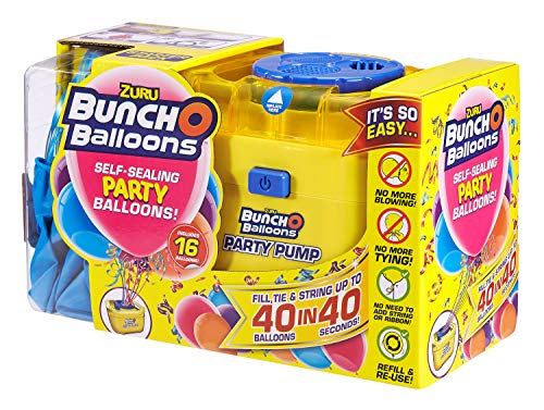 Zuru 56174 - Bunch O Balloons Party, 40 Ballons in 40 Sekunden, Starterset mit elektrischer Pumpe, 16 Ballons, Schlauch und 4 Adaptern, sortiert in 3 Farben, keine Auswahl möglich