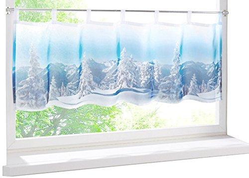 heine home Panneaux Küchengardine Scheibengardinen Bistrogardinen Kurzstore Winterlandschaft 45x90