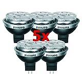 5 Stück Philips MR16 Master LEDspot 7 Watt 827 GU5.3 12V 24 Grad dimmbar 2700 Kelvin warmweiss extra 7W