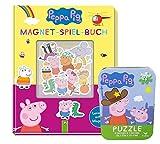 Buchspielbox Peppa Pig - Libro magnético para juegos (16 imanes, puzle de Peppa Pig, libro magnético para niños a partir de 4 años)