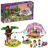 LEGO Friends - Glamping en la Naturaleza, Set de Construcción de Aventuras con Tienda de Campaña de Juguete y Bicicleta Roja, Incluye Muñecas de Olivia y Mia (41392)