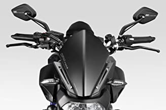 MT07 FZ07 2014/17 - Kit Windscreen 'Warrior' (R-0738B) - Aluminum Windshield Fairing - Hardware Fasteners Included - De Pretto Moto Accessories (DPM Race) - 100% Made in Italy