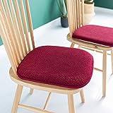 BABYCOW Cojín Cojines de Espuma viscoelástica para sillas de Nido de Abeja Cojines para sillas de Comedor de Oficina, Suave, Antideslizante, Confort Interior, Cocina, Asiento Trasero, tapete, burdeo