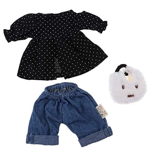 FLAMEER 4 Set Puppenrock Kost/üm Outfits F/ür 25cm MellChan M/ädchen Puppenzubeh/ör
