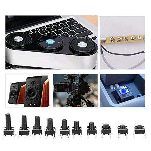 Accesorio industrial duradero Microinterruptor, interruptor, 200 piezas Interruptor táctil fácil de usar Juguetes Otros equipos para varios tipos de enchufes Instrumentos digitales(2009cs)