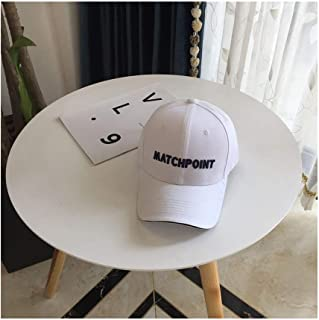 Hats Tide Male and Female Cap Baseball Cap High Quality Spring and Summer Embroidered Cotton Letter Hat Fashion (Color : White, Size : F)