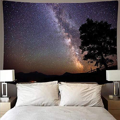 Tapiz de pared con diseño de galaxia con cielo estrellado para colgar en la pared, toalla de playa, fibra de poliéster, manta de yoga, 150 x 200 cm