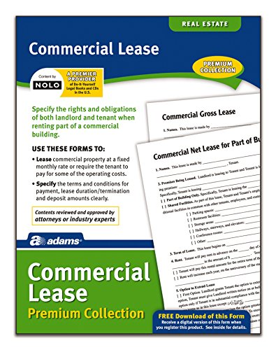 Adams Commercial Lease Forms Pack, Forms and Instructions (LF218P)