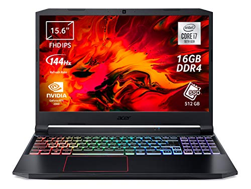 Acer Nitro 5 AN515-55-7153 Notebook Gaming con Processore Intel Core i7-10750H, Ram 16 GB, 512 GB PCIe NVMe SSD, Display 15.6' FHD IPS 144 Hz LED LCD, NVIDIA GeForce RTX 2060 6 GB, Windows 10 Home