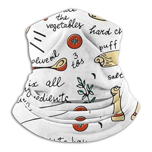 Niet toepassbare kleurrijke groente quiche recept (2) hoofdband gezichtsmasker bandana hoofdwikkel sjaal nekwarmer hoofddeksel bivakmuts voor sport