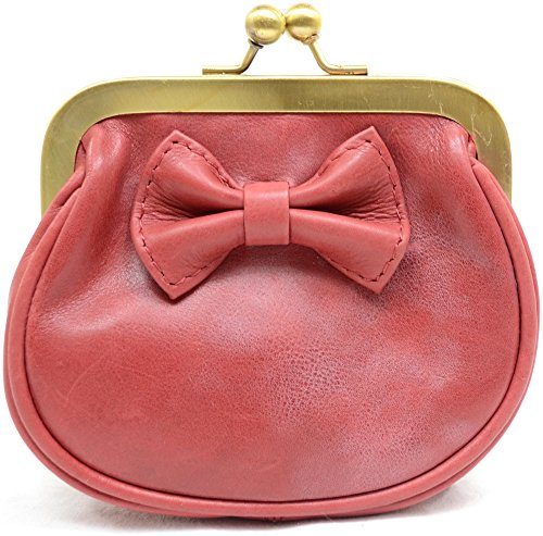 Snugrugs Damengeldbörse aus weichem Leder mit Bügelverschluß - Rot
